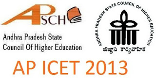 AP ICET 2013 Exam Notification and Schedule for Online Application
