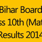 BSEB Bihar Board Class 10th Result 2014 | Bihar Matric Results www.biharonline.gov.in