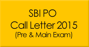 SBI PO Call Letter 2015 Download
