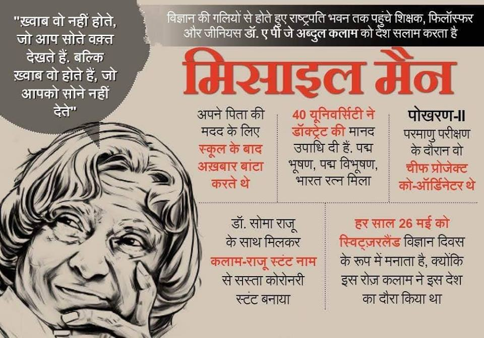 Abdul Kalam Missile Man Quotes Life Chaning